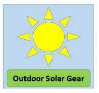 outdoor solar gear banner